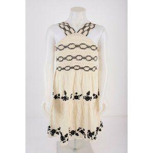 Zara Girls Dress Sz 11-12 yrs 152 cm Ivory Black